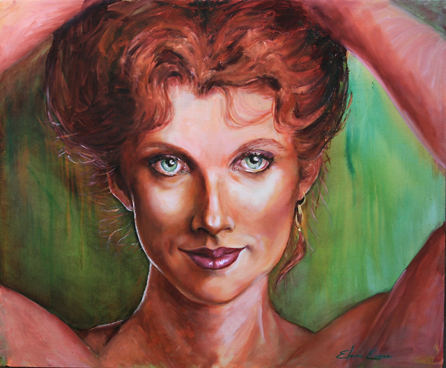 Green Eyes Oil Painting